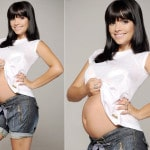 Atriz Vanessa com 5 meses de gestação (foto: divulgação)