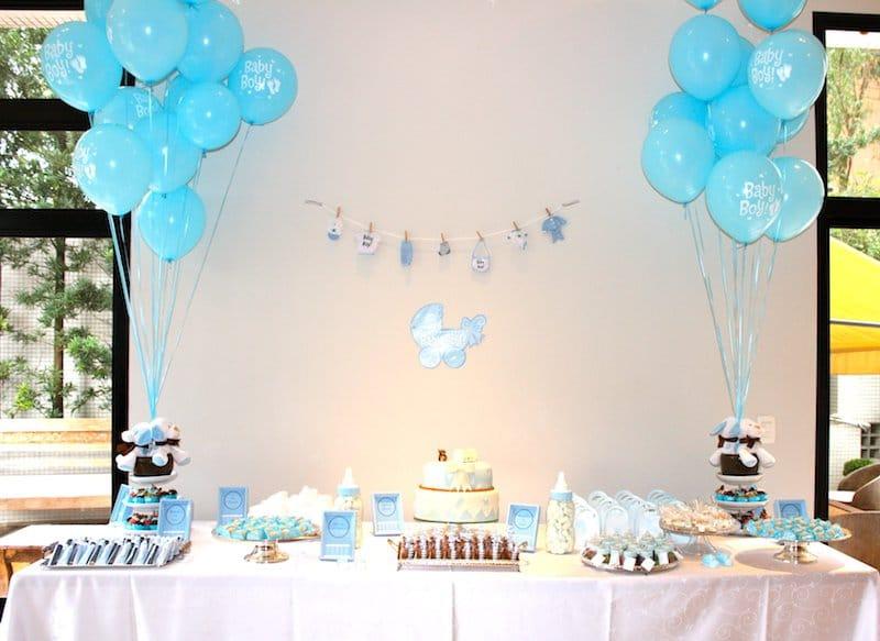 Chá de bebe azul claro