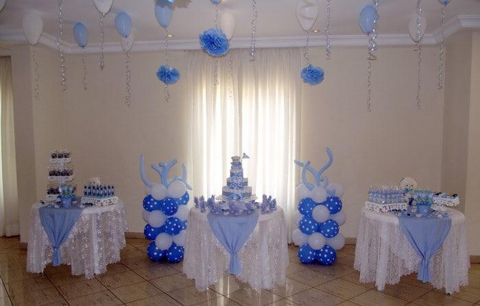 decoração para cha de bebe com bolas