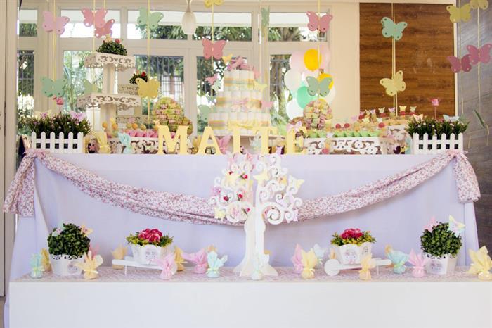 decoração chá de bebê borboleta
