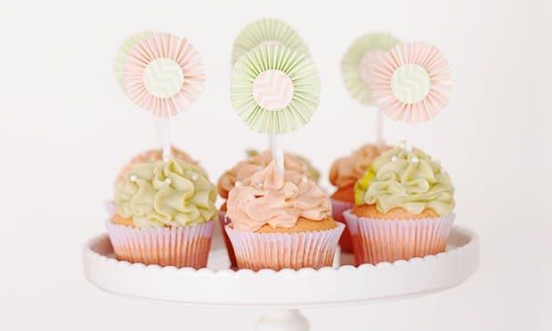 cupcake para lembrancinha de cha de bebe