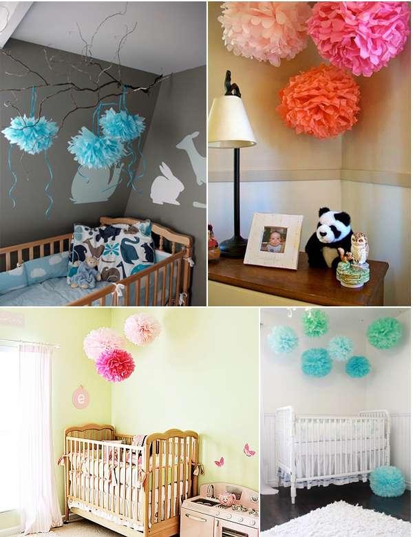 artesanato em papel de seda para quarto bebe