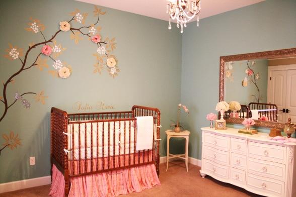 ideias baratas para decorar o quarto de beb. Black Bedroom Furniture Sets. Home Design Ideas