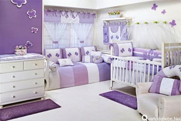 Quartinho de bebê lilás Modelos femininos e masculinos ~ Quarto Rosa E Lilas