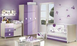 Quartinho de bebê lilás – Modelos femininos e masculinos