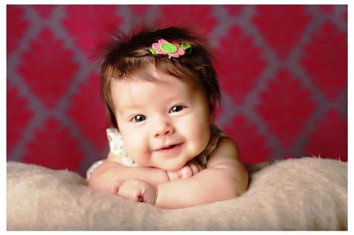 foto profissional do bebe