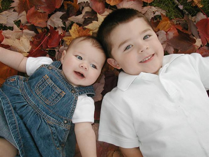 Foto com irmao mais velho