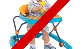 Andadores para bebê proibidos – Conheça os riscos e perigos