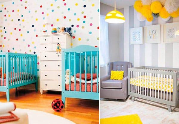 Bebês de Gêmeos pedem quartos coloridos. (Foto: Divulgação).