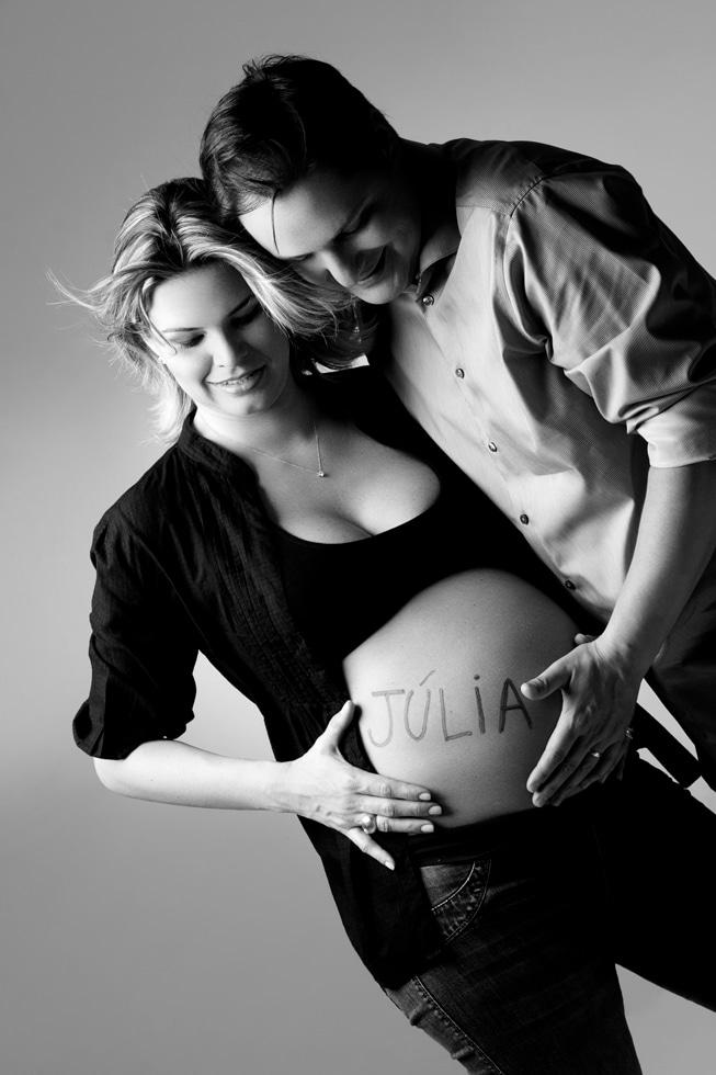 Escreva o nome do bebê na barriga. Foto: Divulgação.