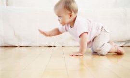 Com quantos meses o bebê começa a engatinhar?