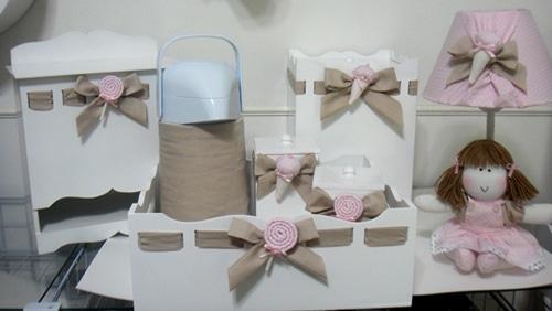 Como montar um kit higiene para o quarto do beb u00ea # Como Decorar Kit De Higiene Para Bebe Em Mdf