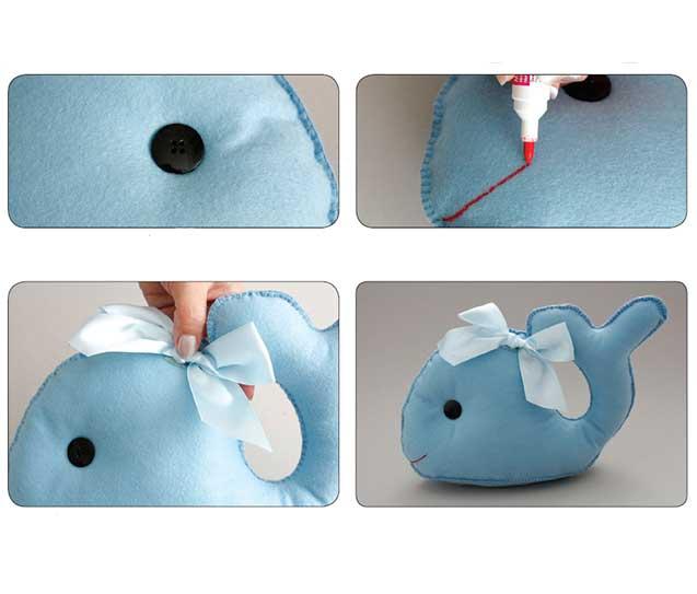 Artesanato simples com feltro para o quarto do bebê