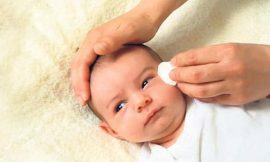 Como limpar os olhos do bebê corretamente