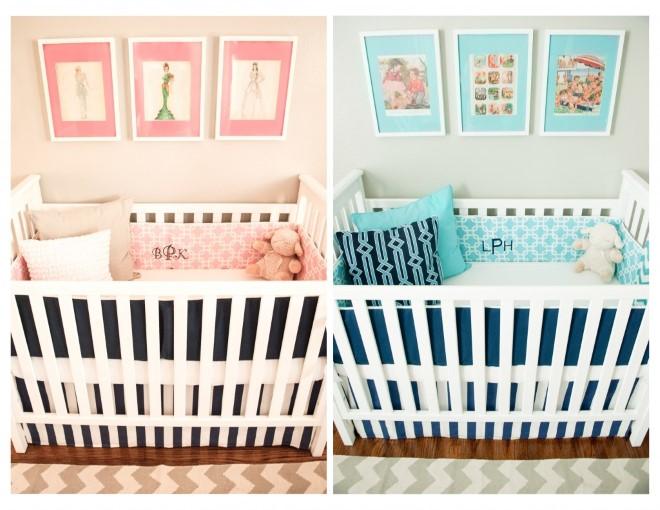 Decoração para quarto de bebês gêmeos ~ Quarto Casal De Gemeos