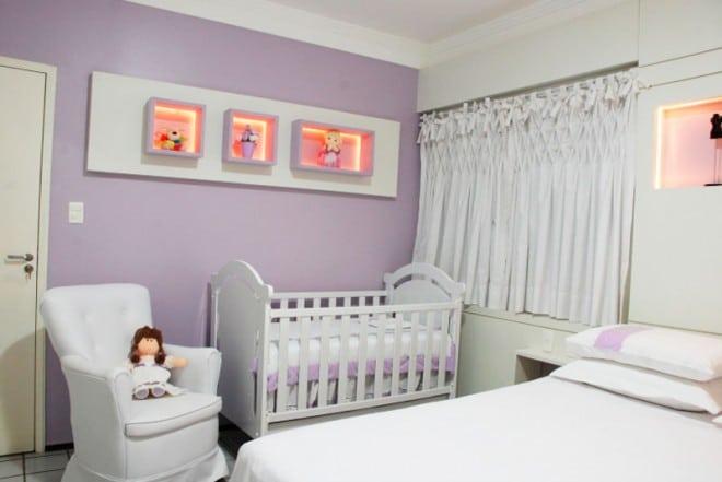 decoração de quarto de casal lilas