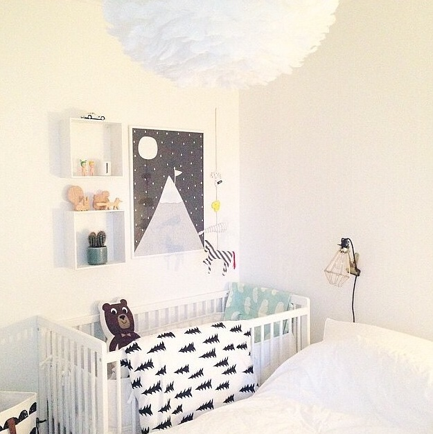 luminaria diferente na decoração do quarto