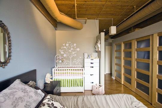 quarto do casal com bebe