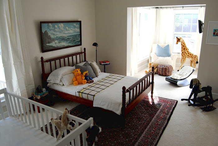 quarto de casal conjugado com quarto de bebe
