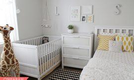 Decoração para quarto de bebê junto com o casal