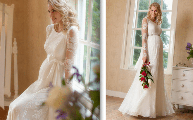 You are currently viewing Modelos de vestidos de noiva para grávidas