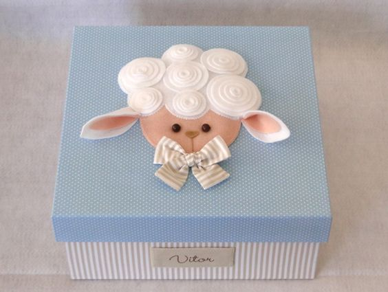 Lembrancinha maternidade ovelha