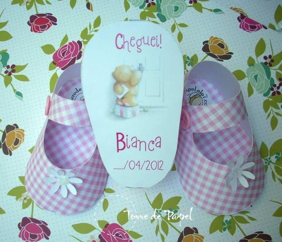 Lembrancinha de maternidade sapatinho