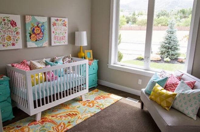 decoração quarto de bebe com nichos