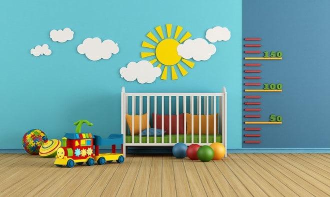 papel de parede decoração quarto bebe