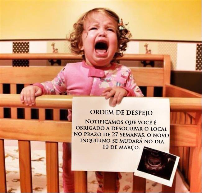 anuncio da segunda gravidez