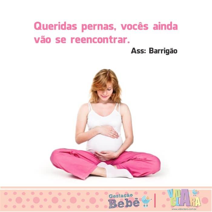 frase gravidez barrigão