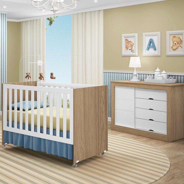 Como arrumar quarto de bebê com pouco espaço? ~ Quarto Simples Mas Arrumado