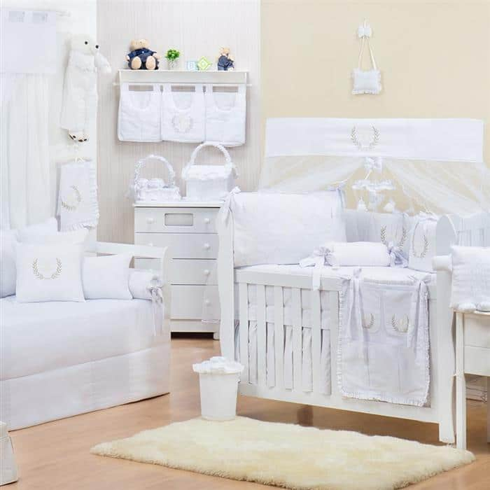 acessorios para quarto de menina branco (Custom)