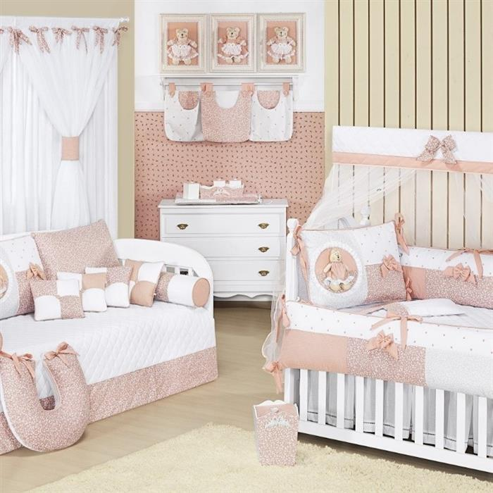 quarto de bebe menina bege (Custom)