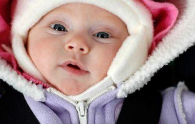 bebê com frio
