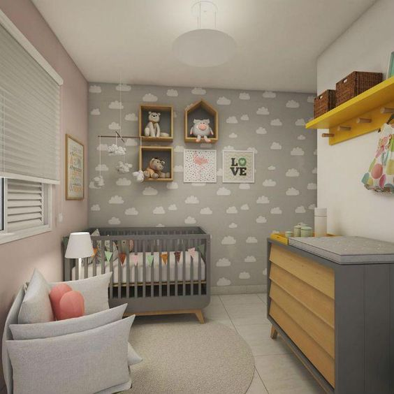 decoração quarto de bebe simples