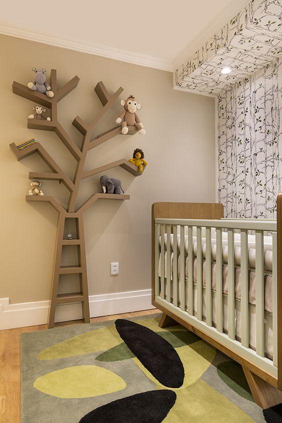 nichos decorados para quarto de bebe