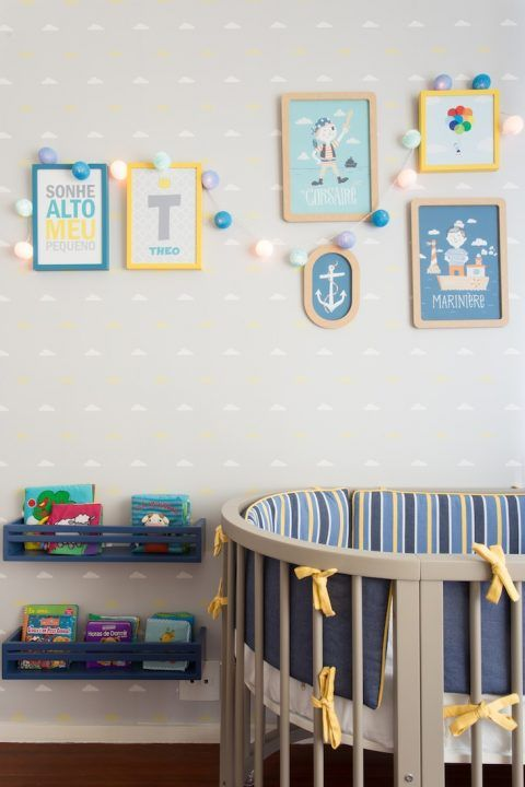 decoração para quarto de bebe menino
