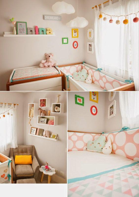 decoração quarto bebe menina rosa