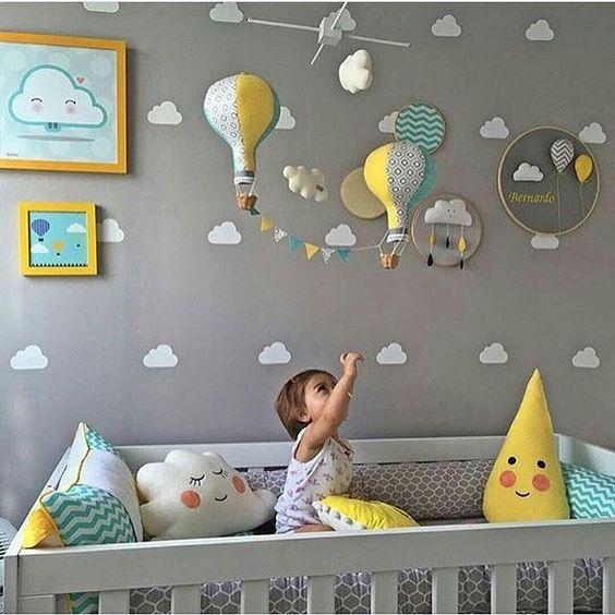 decoração simples para quarto de bebe