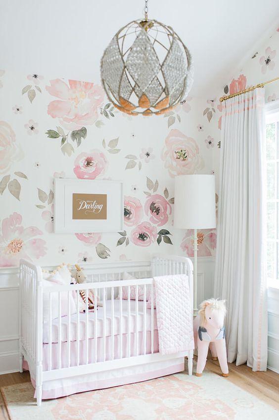 quartos de bebe feminino decorados