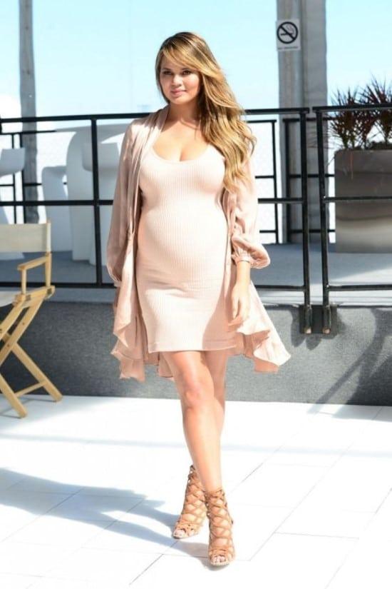 vestido grávida famosa