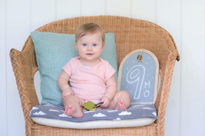 bebe de nove meses