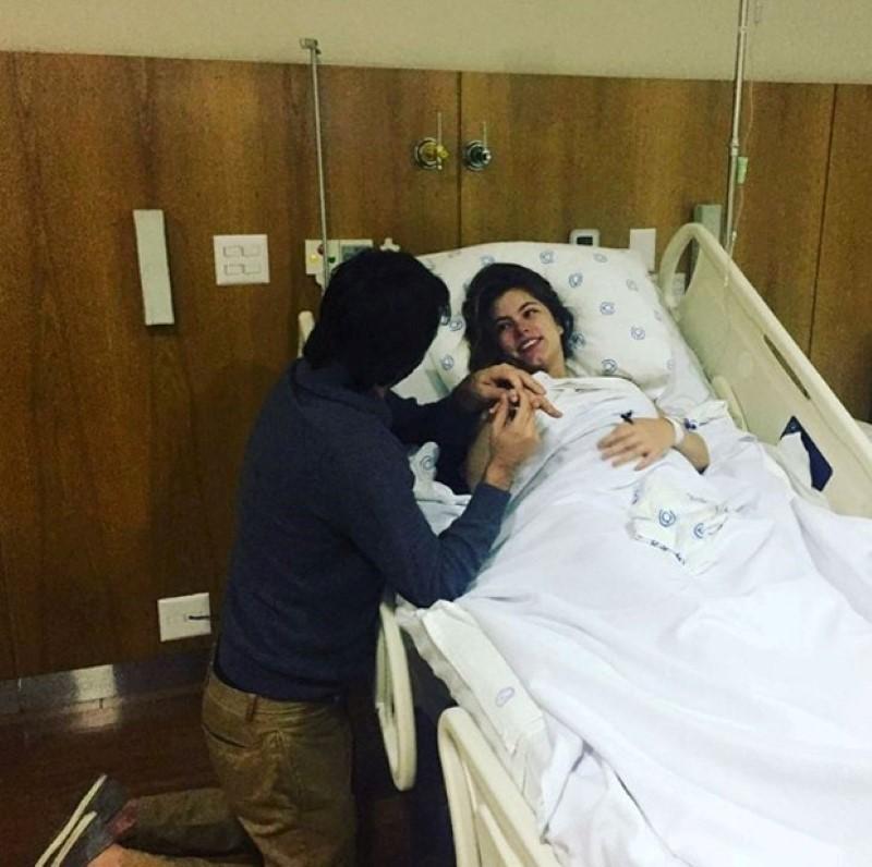 Bruna Hamú é pedida de casamento após dar a luz