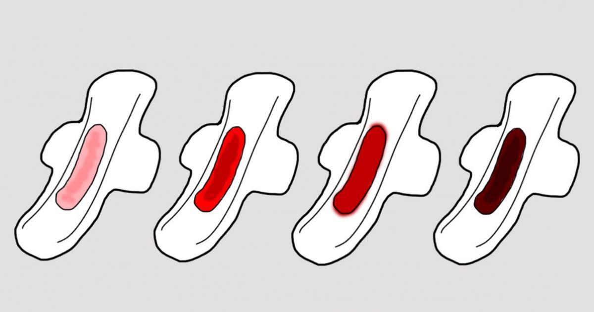menstruação escura e pouco fluxo