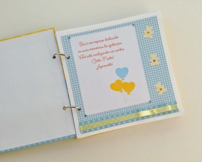 diario de gravidez para imprimir