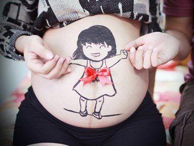 Ideias para desenhar na barriga de gravida
