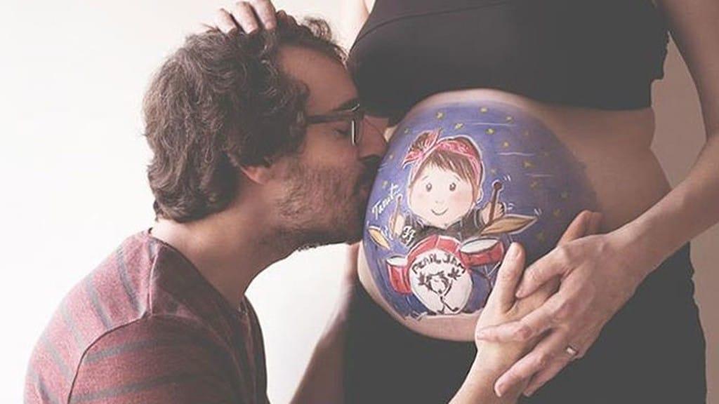 Imagens de desenho na barriga de gravida