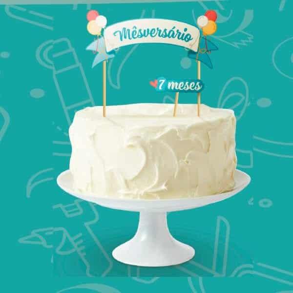bolo de mesversario de chantilly