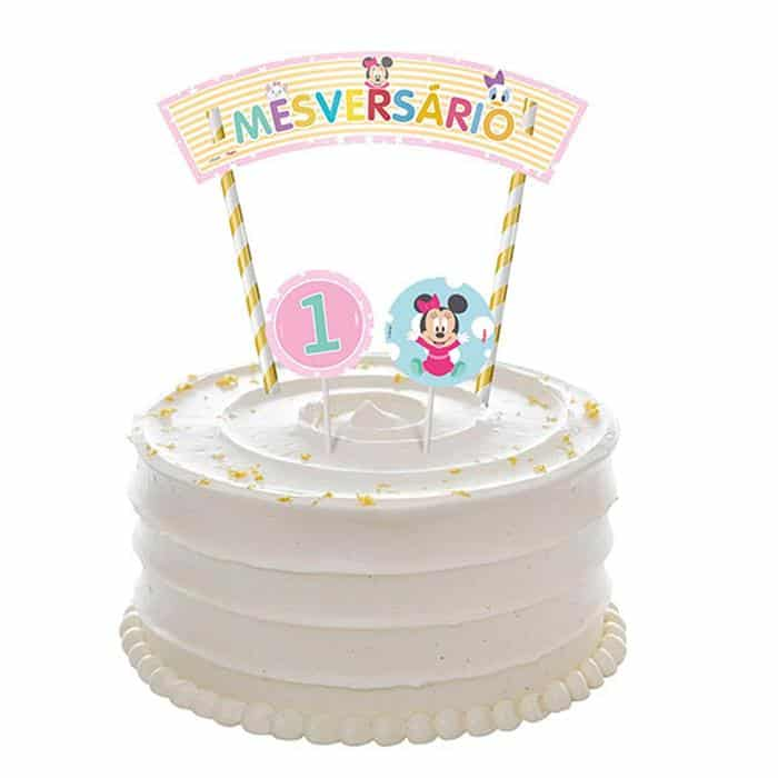 bolo de mesversario branco